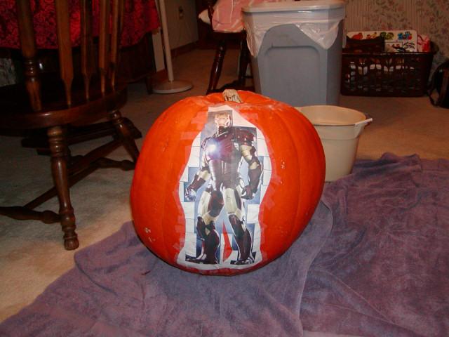 Iron Man Pumpkin Pattern Iron Man Pumpkin Carving