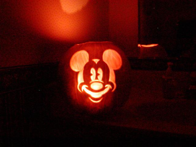 Disney mickey mouse pumpkin carving stencils car