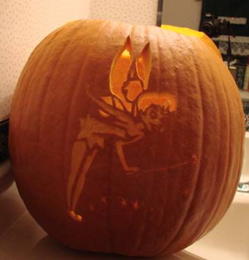 Tinkerbell 2009 pumpkin carving gallery for How to carve tinkerbell in a pumpkin