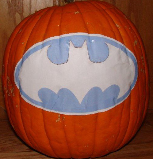 Batman logo pumpkin carving gallery