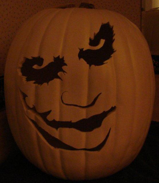 Joker white foam  pumpkin carving gallery