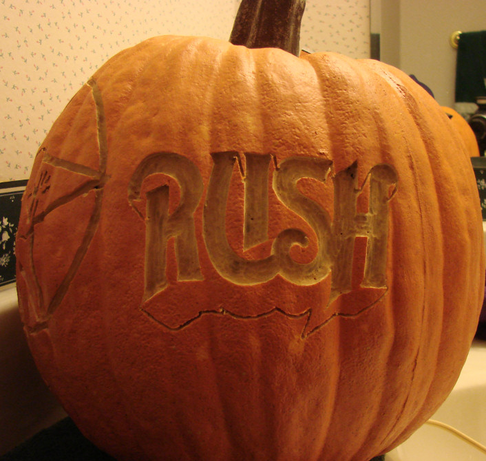 Rush double sided orange foam  pumpkin carving